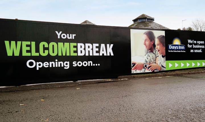 Welcome Break Hoarding Large Format Printing