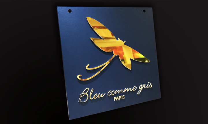 Blue Comme Gris Shop Sign