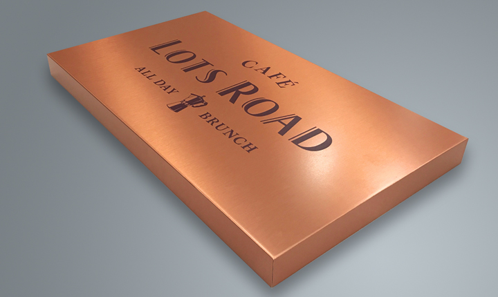 Lots Road Cafe Sign Tray - Concept Foundry