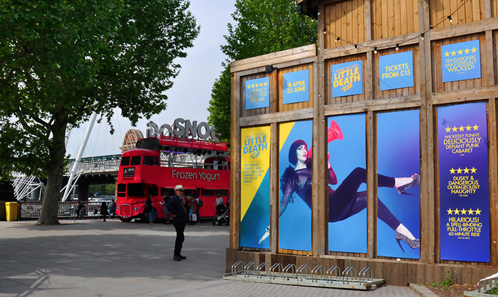 Underbelly Southbank London Large Format Printing by Concept Foundry