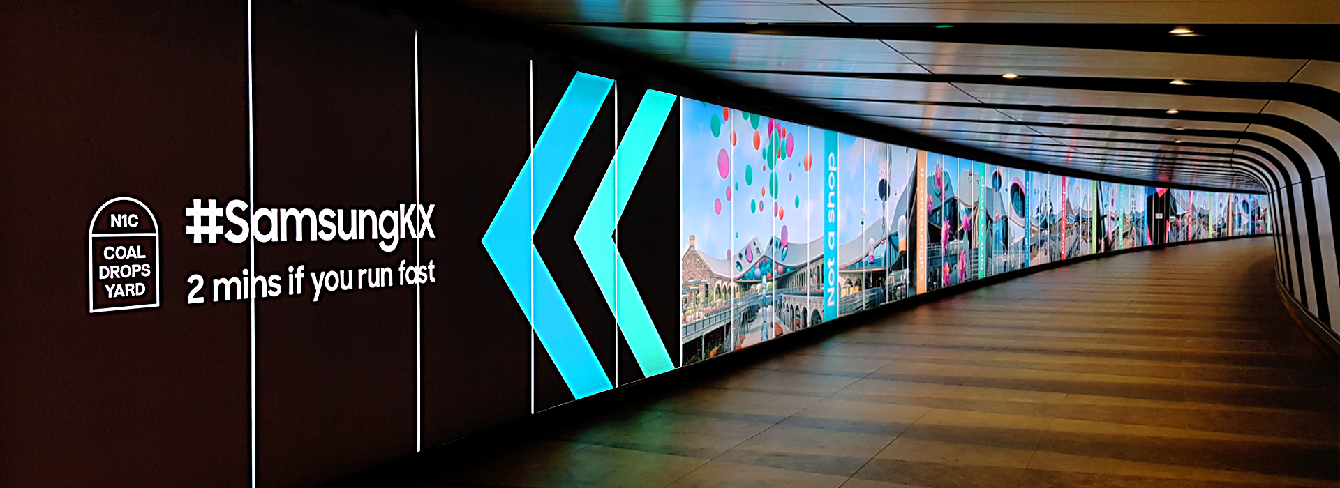 Samsung Tunnel Graphic Kings Cross London